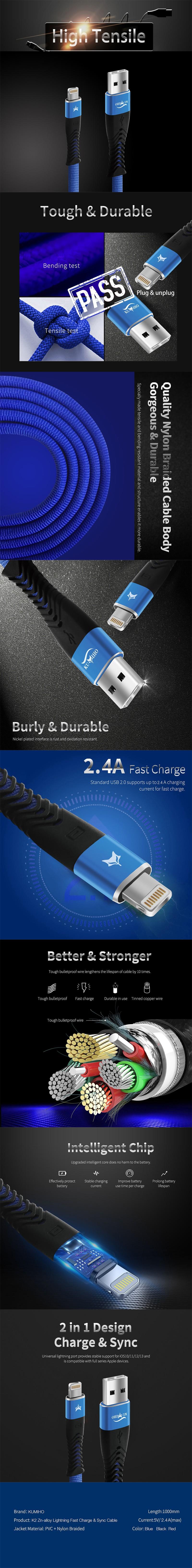 Kumiho K2 Zn-alloy USB cable