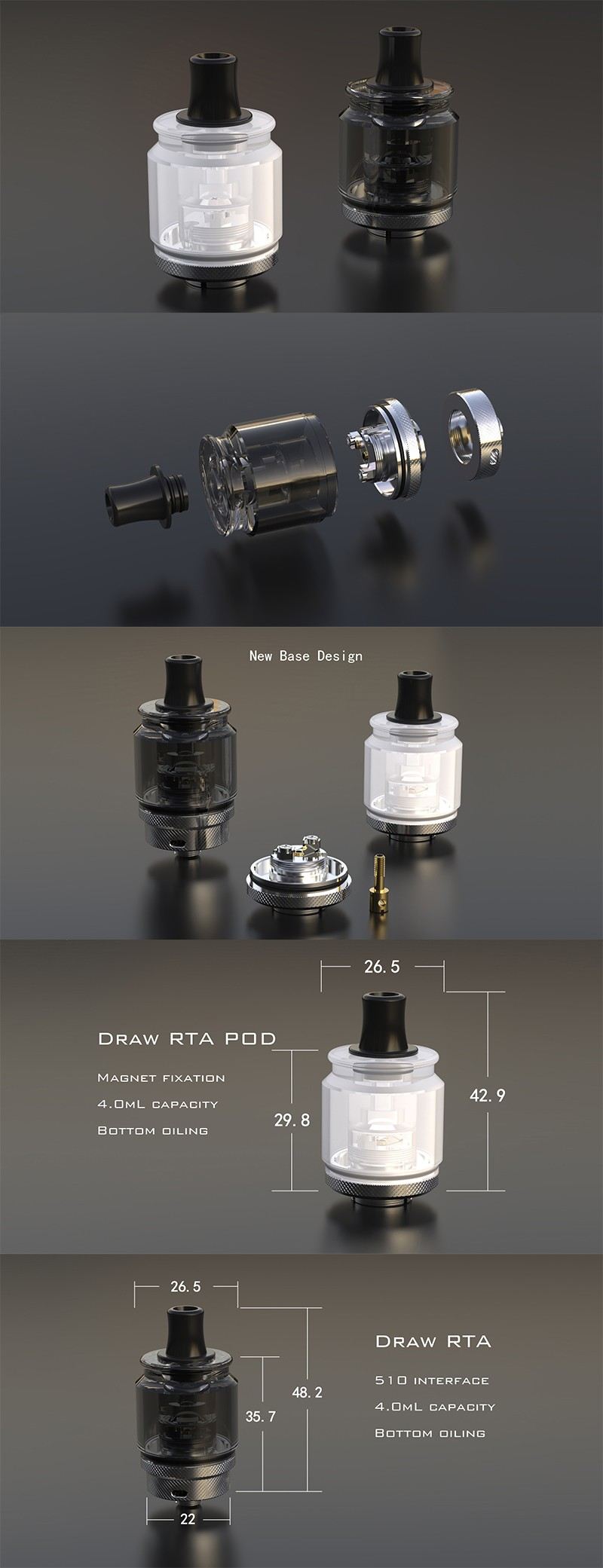 Auguse Draw RTA Pod Cartridge