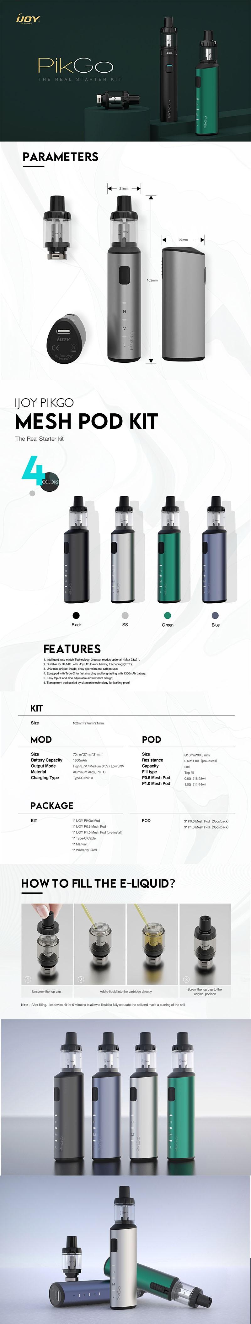 IJOY PikGo Pod Mod Vape Starter Kit