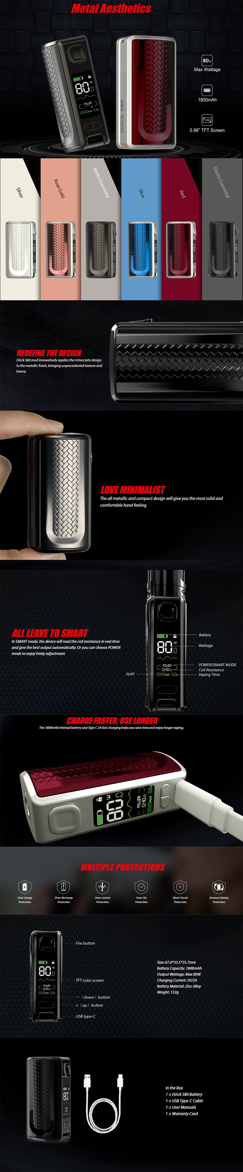 Eleaf iStick S80 80W Battery VW Box Mod