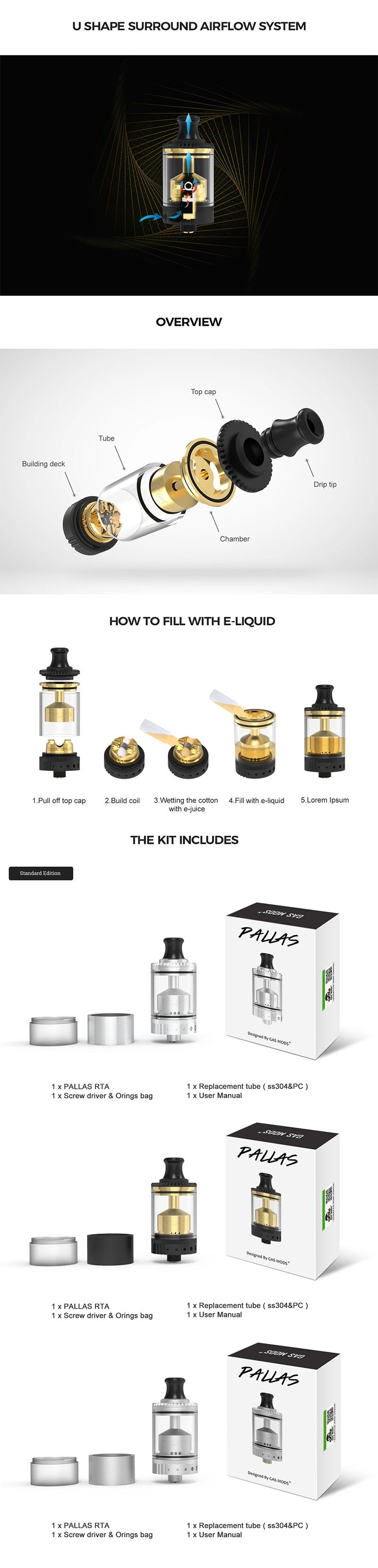 Gas Mods Pallas MTL RTA