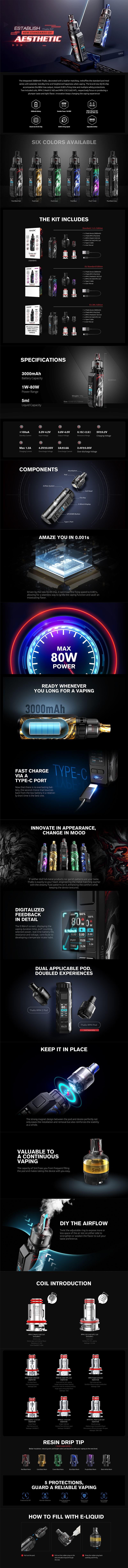 Authentic SMOK Thallo Pod Vape Mod Kit