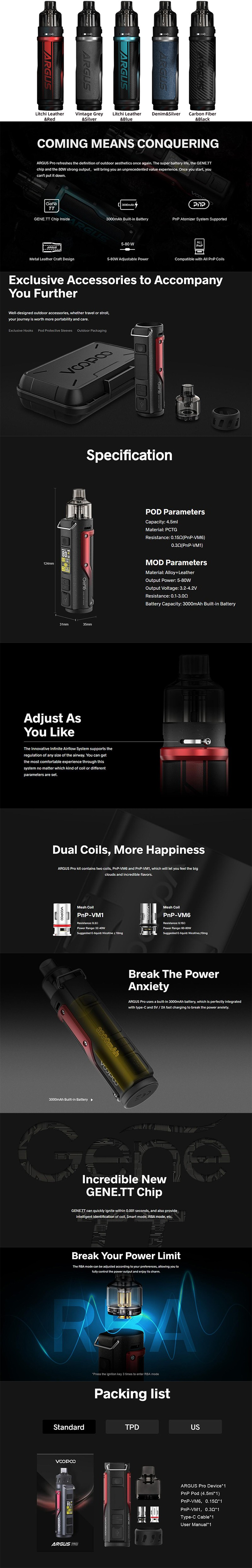 Authentic VOOPOO Argus Pro Pod System