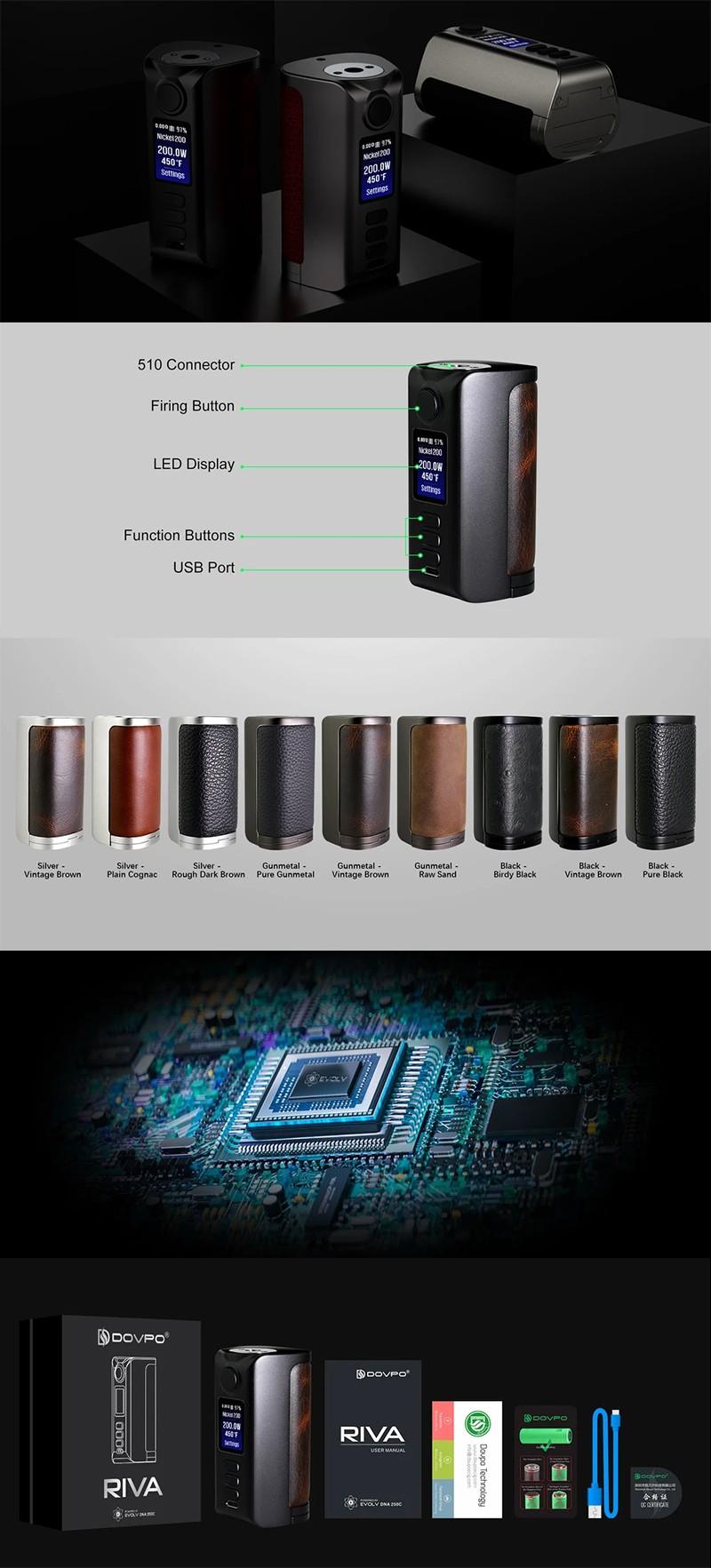 Authentic Dovpo Riva DNA250C 200W Box Mod
