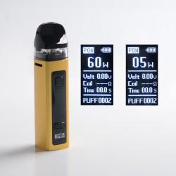 Authentic Uwell Aeglos Pod System Vape Mod Kit - Gold, VW 5~60W, 1500mAh, 3.5ml, MTL 0.8ohm Coil / DL 0.23ohm Coil