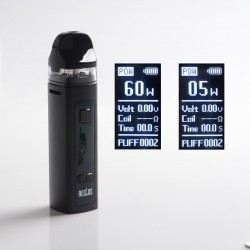Authentic Uwell Aeglos Pod System Vape Mod Kit - Black, VW 5~60W, 1500mAh, 3.5ml, MTL 0.8ohm Coil / DL 0.23ohm Coil