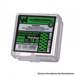 Original Wotofo NexMESH SUS316L Mesh Sheet Coil for Profile 1.5 RDA / Profile RDTA 0.15ohm