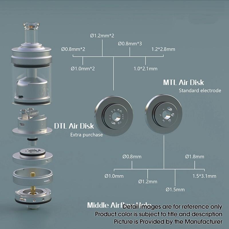 Auguse MTL / DTL V2 RTA Airflow