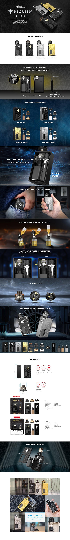 Authentic Vandy Vape Requiem BF Mechanical Vape Box Mod Kit