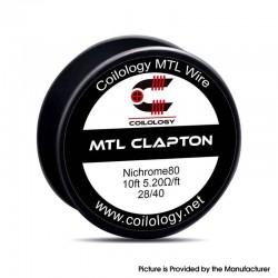 Original Coilology MTL Clapton Ni80 Spool Wire for RDA / RTA / RDTA Vape Atomizer 5.2ohm 28GA / 40GA