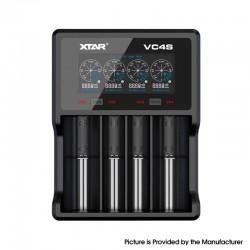 Original Xtar VC4S USB 4-Slot Charger for 18650, 20700, 21700, 26650 Battery