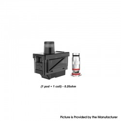 Uwell Havok V1 Pod System Replacement Pod Cartridge + UN2 DTL Coil Heads - 4.0ml, 0.25ohm (40~45W) (1 PC)