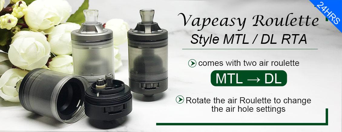 Vapeasy Roulette Style MTL / DL RTA Black