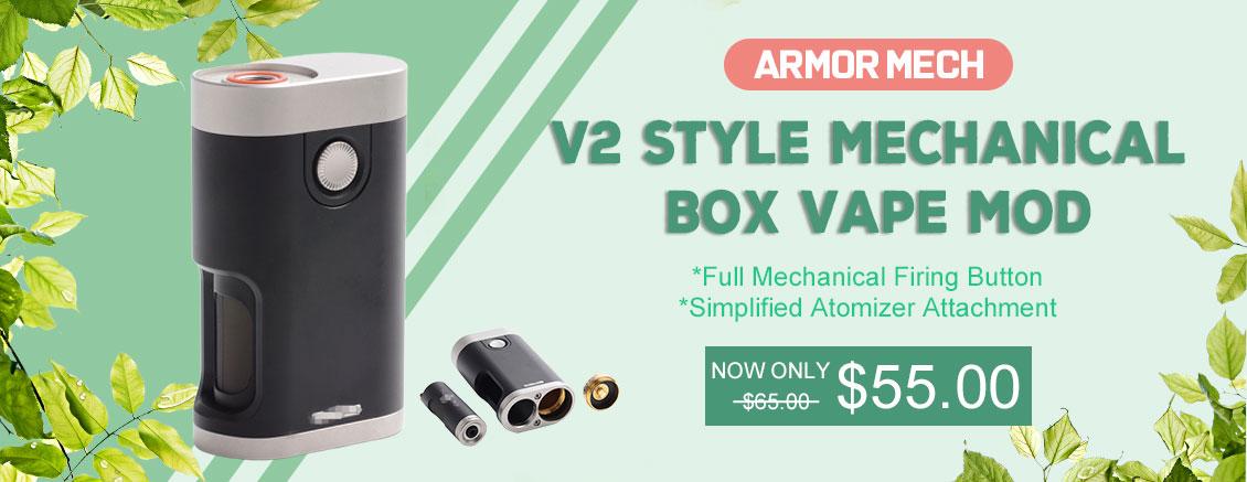 Vapeasy Armor Mech V2 Style Squonk Mechanical Box Mod