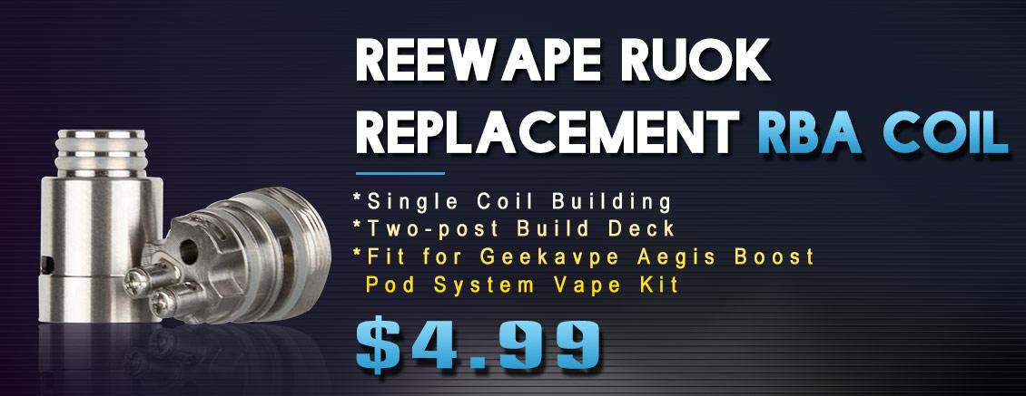 Reewape RUOK RBA Coil for GeekVape Aegis Boost