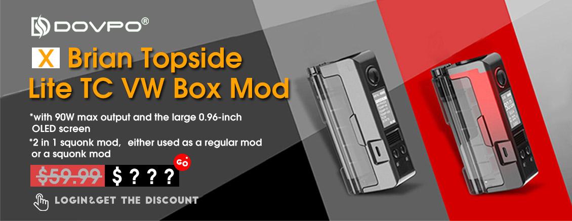 Dovpo x Brian Topside Lite 90W TC VW Squonk Box Vape Mod