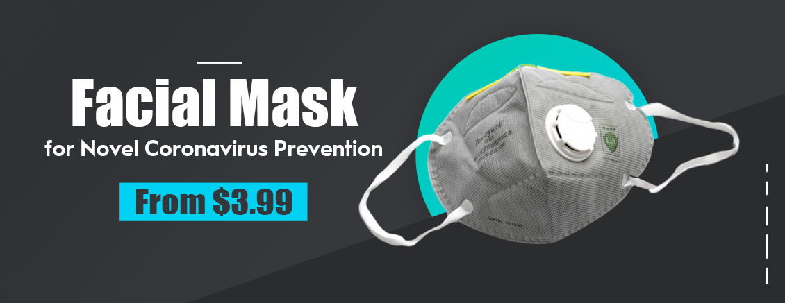 Facial Mask Particulate Respirator Anti PM2.5 Dust / Bacteria / Virus