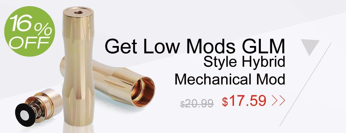 Get Low Mods GLM V2 Style Hybrid Mechanical Mod
