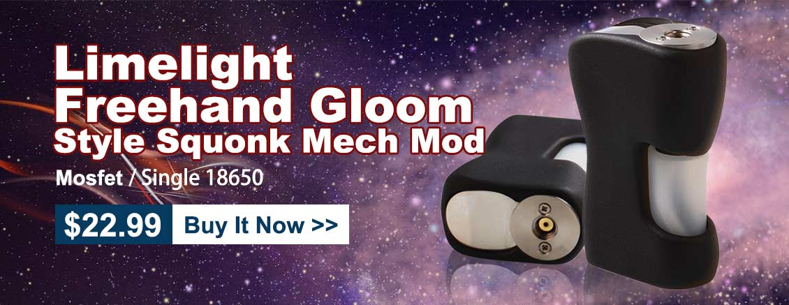 Limelight Freehand Gloom Style Squonk Mechanical Box Mod