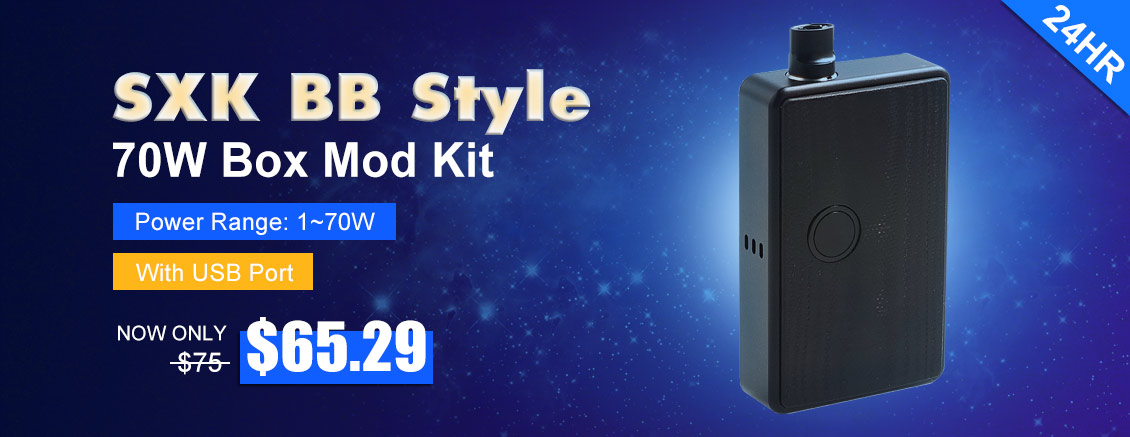 SXK Billet Box Style 70W All-in-One Box Mod Kit - 3FVAPE