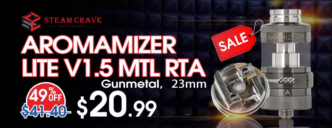 Steam Crave Aromamizer Lite V1.5 MTL RTA Sale