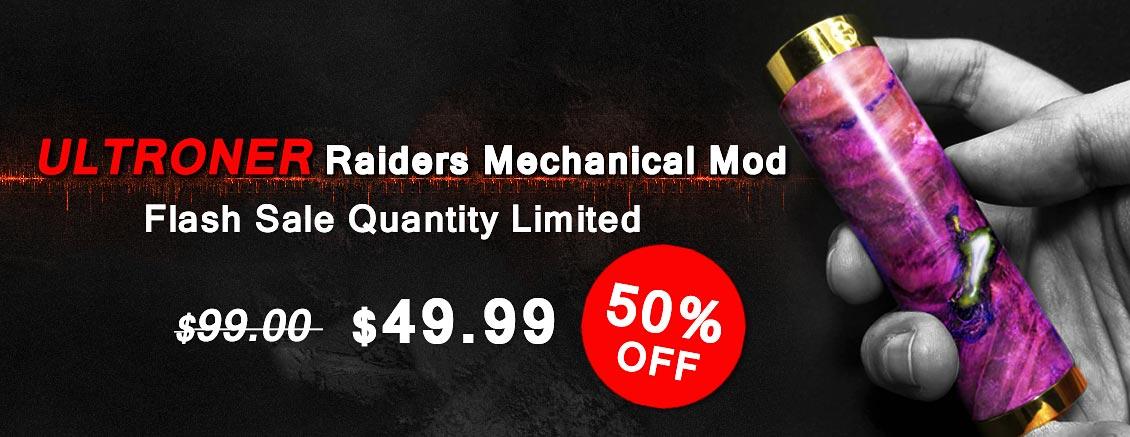 Authentic ULTRONER Raiders Mechanical Mod Flash Sale