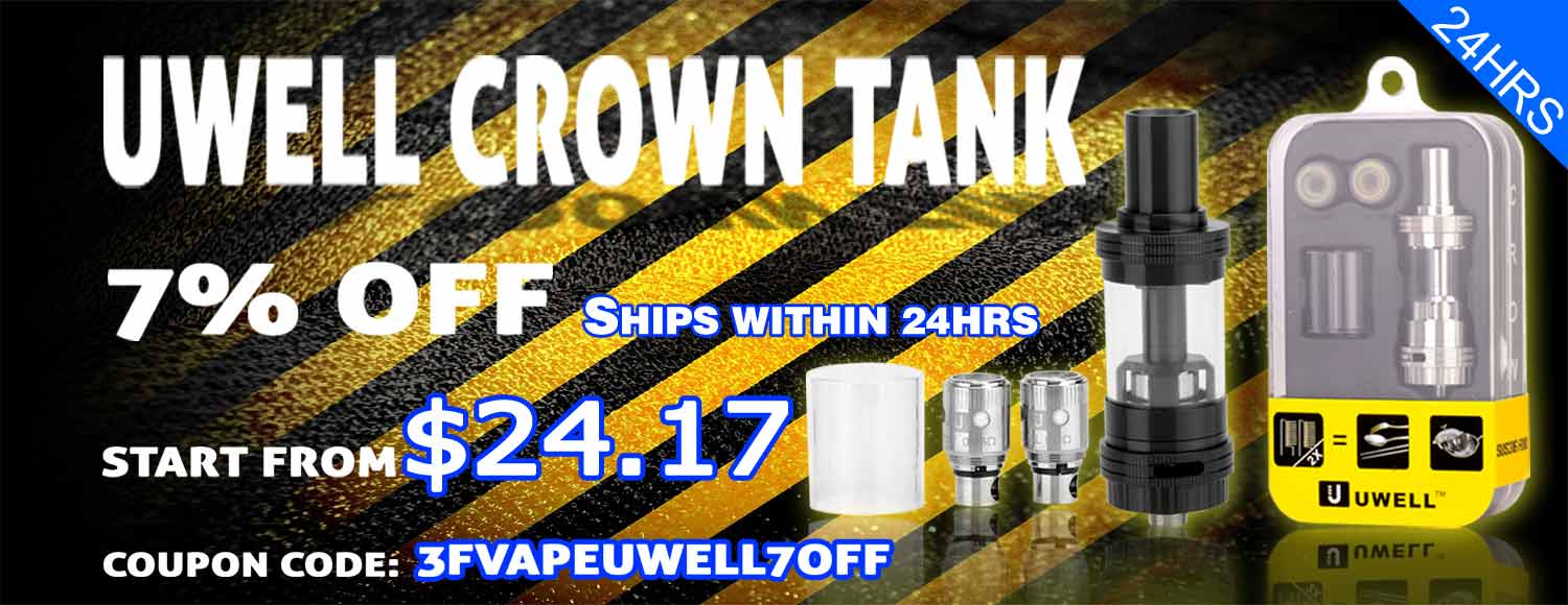 Uwell Crown 7% off Coupon (24hrs instant ship)